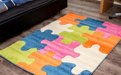 שטיחים צבעוניים ליצירת אווירה חמימה בחדר הילדים