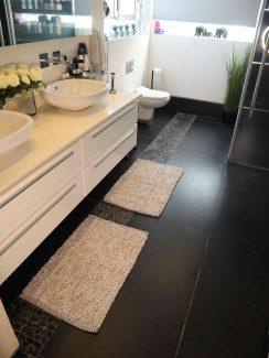 שטיח יעל לאמבטיה - תכלת אפור