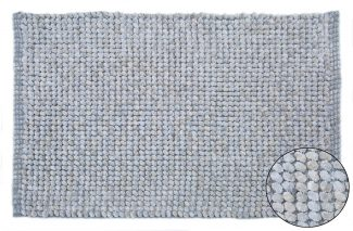 שטיח יעל לאמבטיה - תכלת אפור 50/80