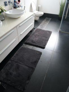 ניו יורק שאגי לאמבטיה - אפור כהה